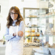 Portrait of bakery shop owner — Stock Photo #41396743