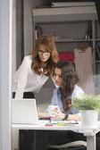 Beautiful fashion designers working together — Stock Photo