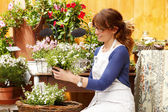 Flower shop owner — Stock Photo