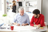 Business team in architect studio — Stock Photo