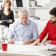 Business team in architect studio — Stock Photo #42851875