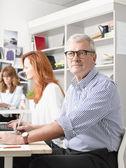 Senior graphic designer. — Stock Photo