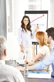 Young businesswoman presenting ideas — Stock Photo