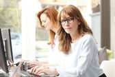 Graphic designer women in office — Stock Photo