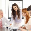 Business people discussing at meeting — Stock Photo #47132257