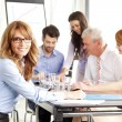 Beautiful businesswoman at meeting — Stock Photo #47132457