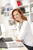 Portrait of executive businesswoman — Stock Photo
