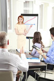 Businesswoman presenting her ideas — Stock Photo