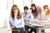 Executive businesswoman at meeting. — Stock Photo
