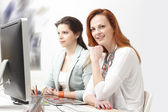 Modern graphic designer women — Stock Photo
