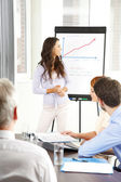 Young businesswoman presenting — Stock Photo