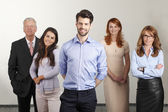 Happy business people group — Stock Photo