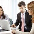 Business people making financial discussion — Stock Photo #49430289