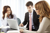 Business people making financial discussion — Stock Photo
