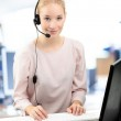 Support phone operator in headset — Stock Photo #51579961