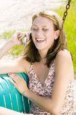 電話で話している女性 — ストック写真
