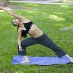 Young woman doing Yoga — Stock Photo #23190358