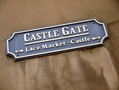 Castle Gate, Nottingham — Stock Photo