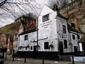 Oldest pub in England — Stock Photo