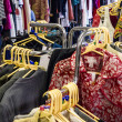 Rails of clothes — Stock Photo