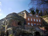 Nottingham Castle and Sandstone Caves — Stock Photo