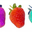 Genetically modified food, strawberries — Stock Photo