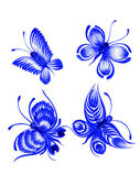 Butterfly, collection — Stock Vector