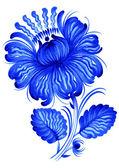 Blue, flower — Stock Vector