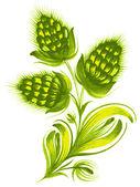 绿色小花 — 图库矢量图片