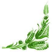 Decorative floral corner — Stock Vector