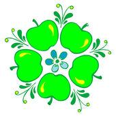 リンゴ — ストックベクタ