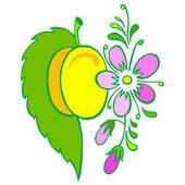 Yellow plum — Stock Vector