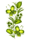 Beautiful green butterfly — Stock Vector