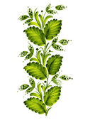 Green twig — Stock Vector