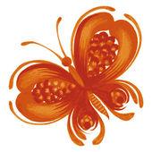 Orange butterfly — Stock Vector
