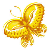 Yellow butterfly — Stock Vector