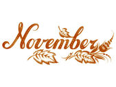 November the name of the month — Stock Vector