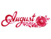 August the name of the month — Stock Vector