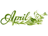 April the name of the month — Vector de stock