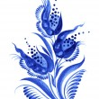 Blue flower composition — Stock Vector #29279351