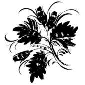 Silueta ornamental — Vector de stock