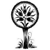 Ornamental silhouette — Stok Vektör