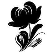 Ornamental silhouette — Stock Vector