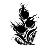 декоративные силуэт — Cтоковый вектор