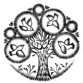 装飾的なシルエット — ストックベクタ