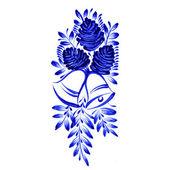 Çiçek Dekoratif süsleme — Stok Vektör