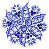 Ornamento decorativo floral — Vector de stock