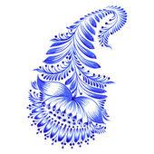 Blommig dekorativa ornament — Stockvektor