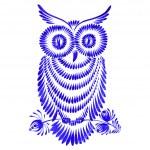 Floral decorative ornament owl — Stock Vector #38700791