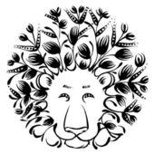 Decorative silhouette of lion — Stock Vector
